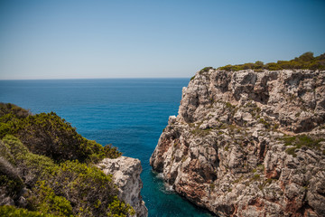 paisaje del mar en isla de menorca