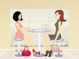 women drink cafe