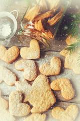 Christmas cookies. Selective focus.
