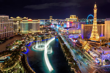 Las Vegas strip, Aerial view  Wall mural