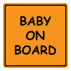 baby on board sign, sticker, isolated vector