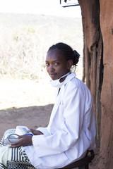 Portrait of female Doctor working in Maasai village. Kenya, Africa