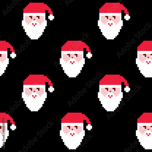 ebd4ffaba544 Santa seamless pattern