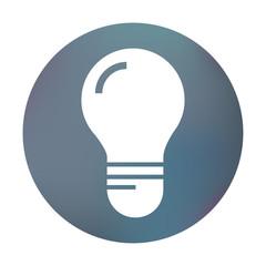 Farbiger Button - simple Glühbirne