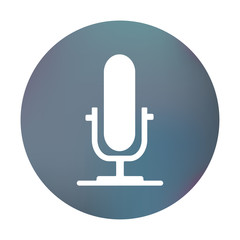 Farbiger Button - Mikrofon