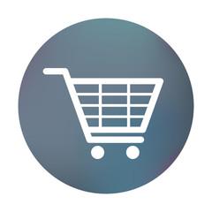 Farbiger Button - einfacher Einkaufswagen