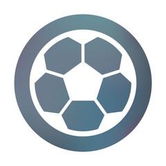 Farbiger Button - Fußball