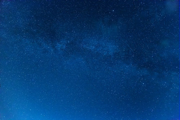 Beautiful background of the stars in the night sky. Real photo.