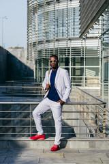 Trendy black man in suit