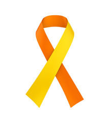 World Suicide Prevention Day Ribbon Isolated