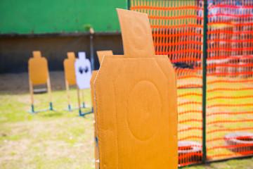 paper Gun target  at Shooting range