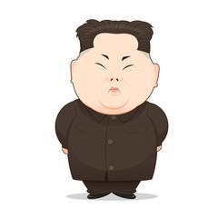 23 August, 2017: Illustration Of North Korean Leader Kim Jong-Un In Popular Pose