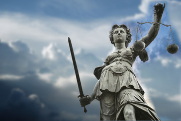 Statue Of Lady Justice Wall mural