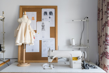 The interior of a clothes designer studio