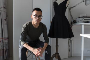 Portrait of fashion designer