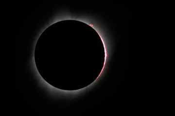 Solar Eclipse at the point of totality