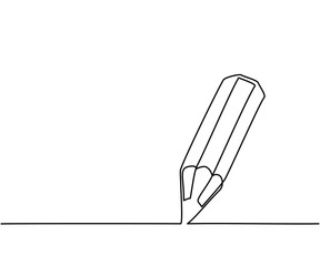 Pencil business icon. Continuous thin line drawing. Vector illustration