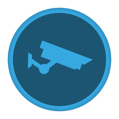 App Icon blau Überwachungskamera
