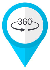 Panorama 360 blue pointer icon