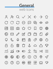 Boldline web icons set of quality icon