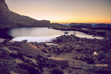 Fototapete - Beautiful morning of solitude