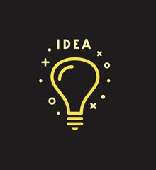 Vector light bulb icon. Idea concept