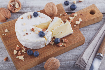 Soft french cheese of camembert.