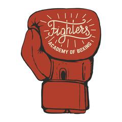Boxing club emblems on white background. Design element for logo, label, emblem, sign. Vector illustration