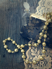 female accessories in retro arrangement