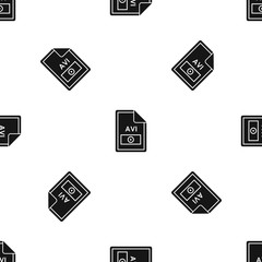 File AVI pattern seamless black