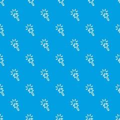Click pattern seamless blue