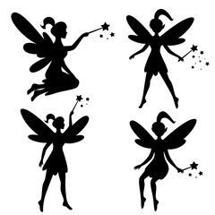 Vector drawing of a fairy, elf
