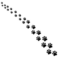 Dog paw print. Paw icon. Vector