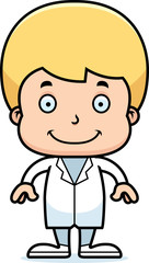 Cartoon Smiling Doctor Boy