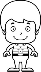 Cartoon Smiling Superhero Boy