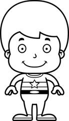 Cartoon Smiling Superhero Boy
