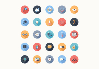 25 Round Tech, Business, and Productivity Icons 4
