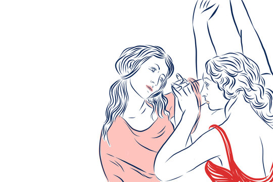 Boticelli Inspired Women Dancing