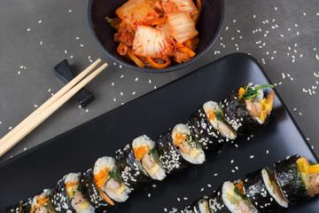 Kimbap korean rolls with tuna fish