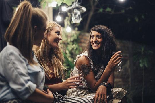Girls Chatting at Celebration