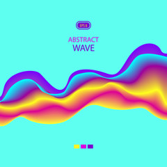 Abstract digital colorful futuristic wave on blue background for brochure cover banner flyer or for advertising  different things