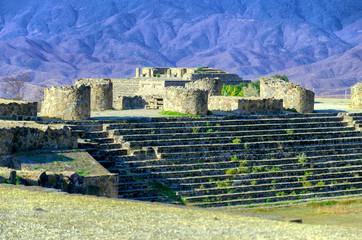 Building in the Suken Patio in Monte Alban, Oaxaca