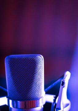 Studio voiceover microphone
