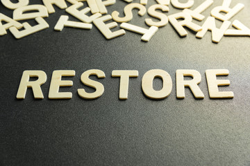 RESTORE word