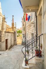 Piękna uliczka w Chorwacji, Wyspa Korcula