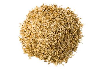 Rice hulls isolated on white background