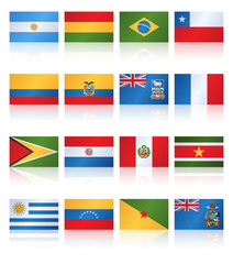 Popular Flat Flag South America