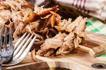 Slow cooked pulled pork shoulder Wall mural