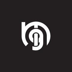 Initial lowercase letter logo mg, gm, g inside m, monogram rounded shape, white color on black background