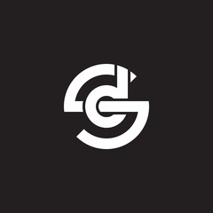 Initial lowercase letter logo sd, ds, d inside s, monogram rounded shape, white color on black background